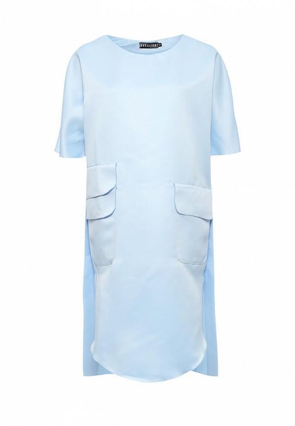 Купить Платье Love & Light, lo790ewpqc43, голубой, Весна-лето 2017