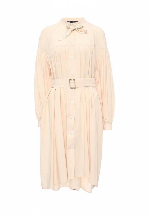 Купить Платье Love & Light, lo790ewpqc60, бежевый, Весна-лето 2017