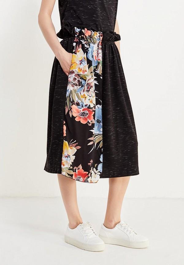 женская прямые юбка love & light, черная