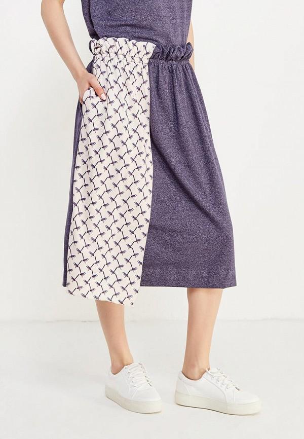 женская прямые юбка love & light, синяя