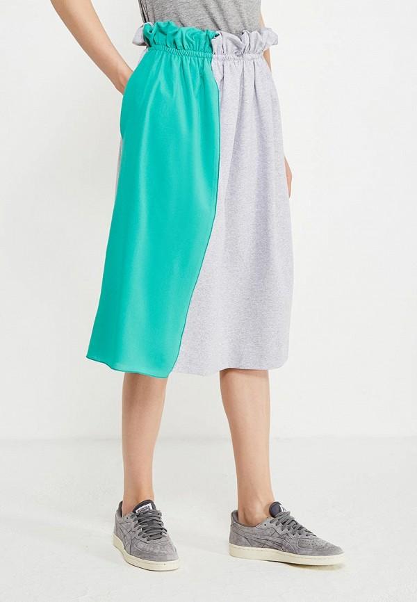 женская прямые юбка love & light, серая