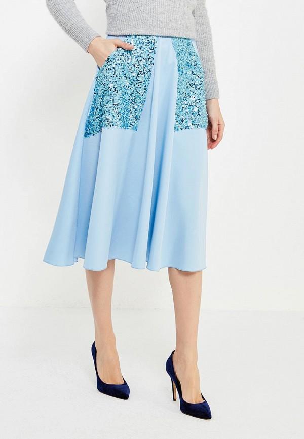женская юбка love & light, голубая