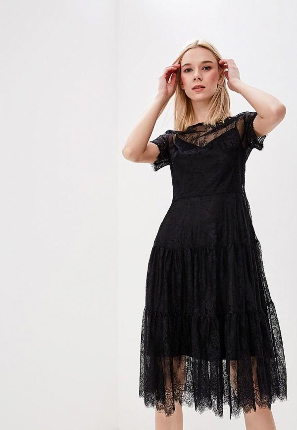 Купить женское вечернее платье Lusio черного цвета
