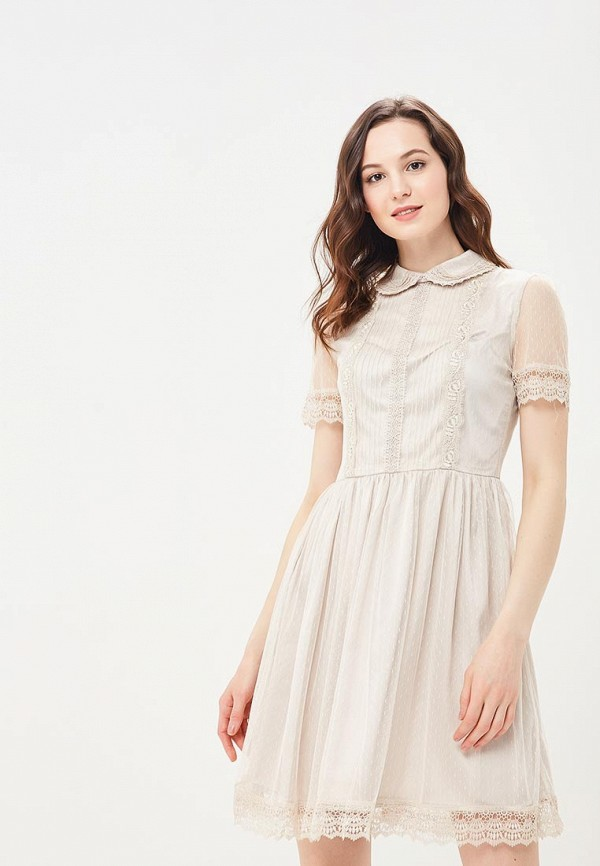 Купить Платье Lusio, LU018EWBIEW7, бежевый, Весна-лето 2018