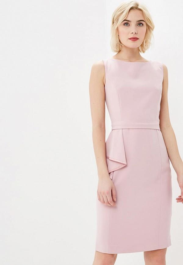 женское платье-футляр lusio, розовое