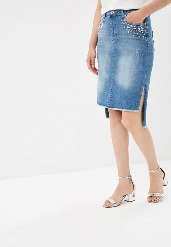 Юбка джинсовая Lusio Lusio LU018EWBOXQ5