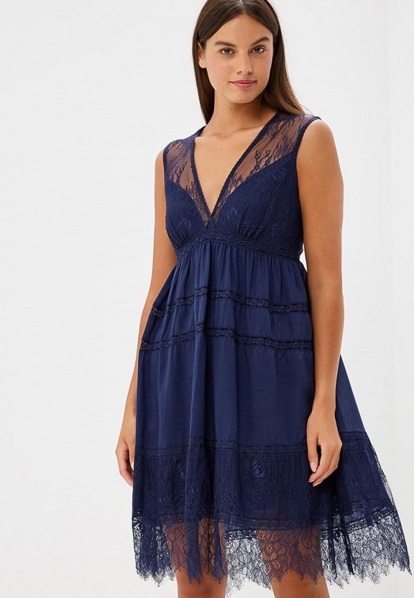 женское вечерние платье lusio, синее