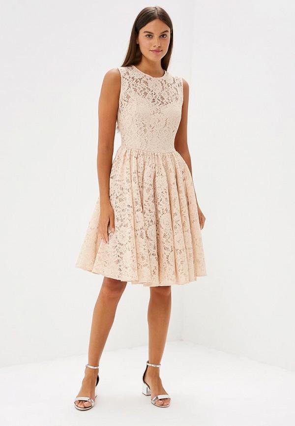 Фото 2 - женское вечернее платье Lusio бежевого цвета
