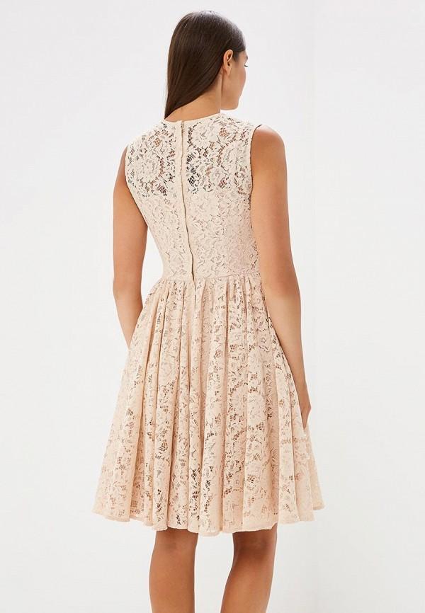 Фото 3 - женское вечернее платье Lusio бежевого цвета
