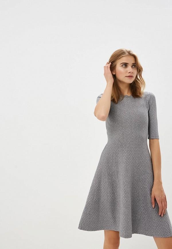 женское повседневные платье lusio, серебряное