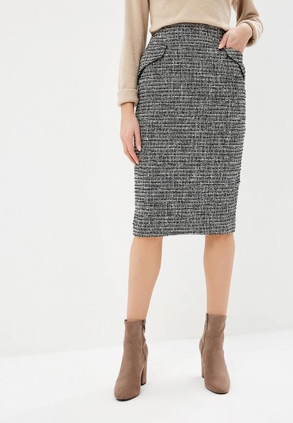 женская прямые юбка lusio, серая