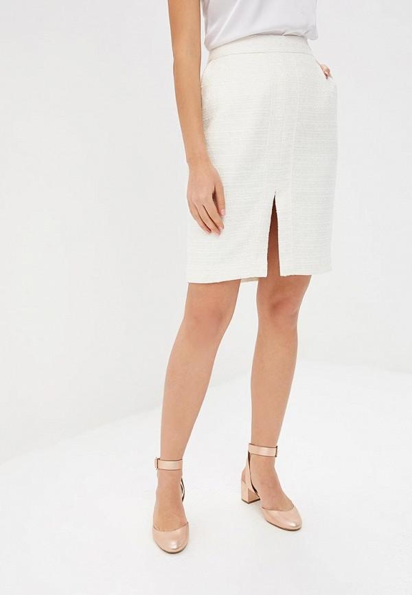 женская прямые юбка lusio, белая