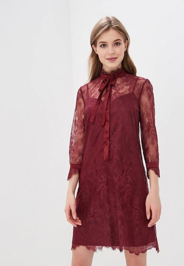 женское вечерние платье lusio, бордовое