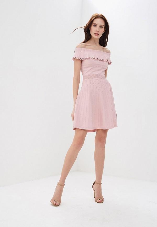 Фото 2 - женское платье Lusio розового цвета