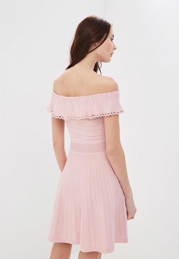 Фото 3 - женское платье Lusio розового цвета