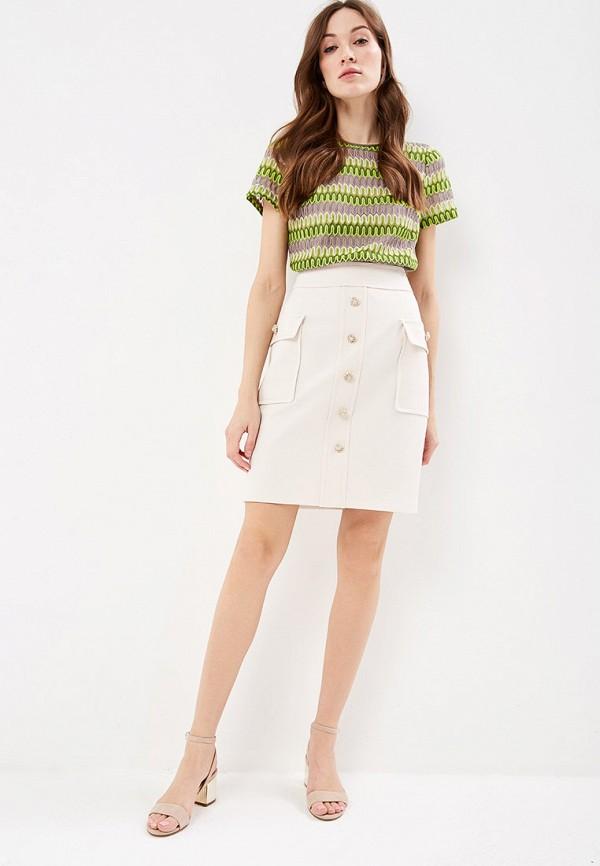 Фото 2 - женскую юбку Lusio бежевого цвета