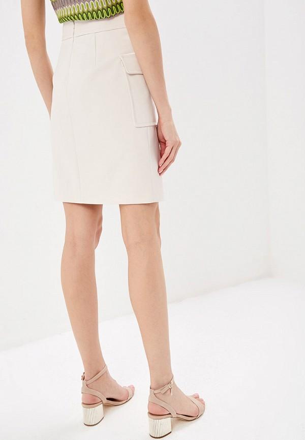 Фото 3 - женскую юбку Lusio бежевого цвета