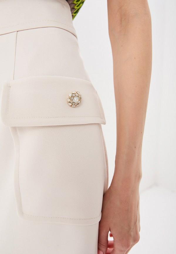 Фото 4 - женскую юбку Lusio бежевого цвета