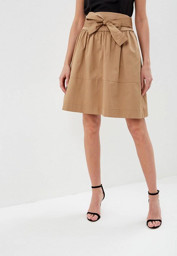 женская юбка lusio, коричневая