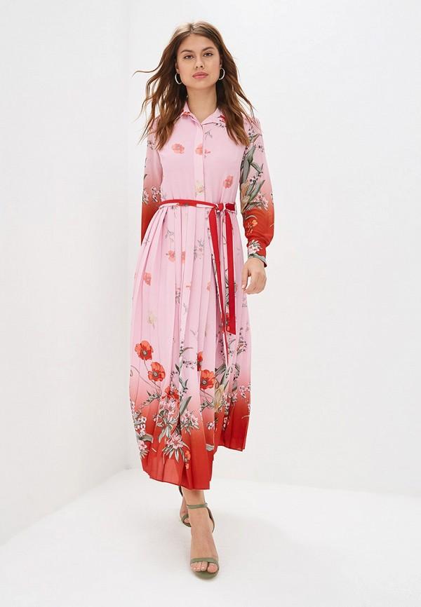 женское повседневные платье lusio, розовое