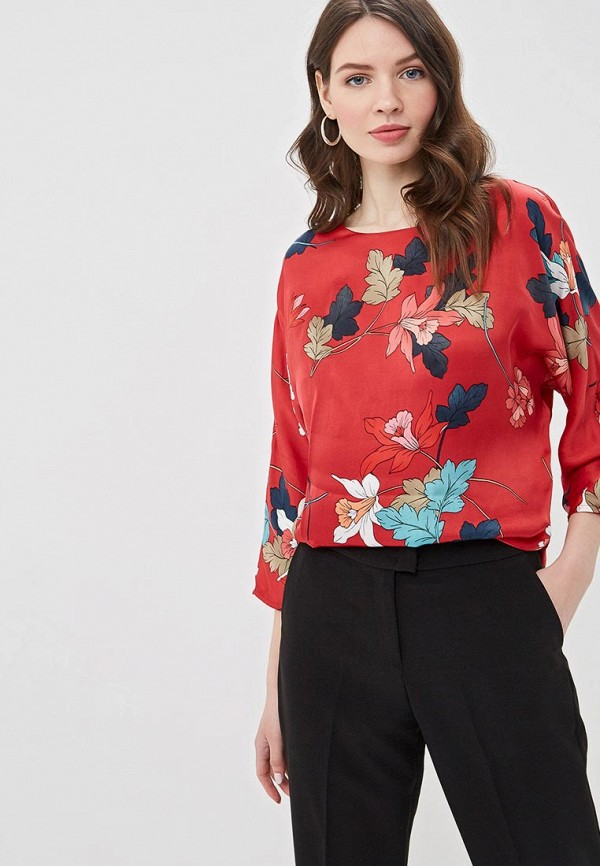 женская блузка lusio, красная