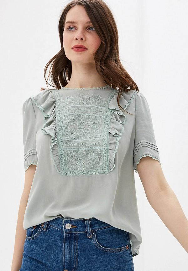 женская блузка lusio, зеленая
