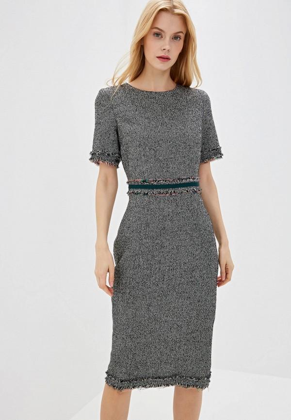 женское платье-футляр lusio, серое