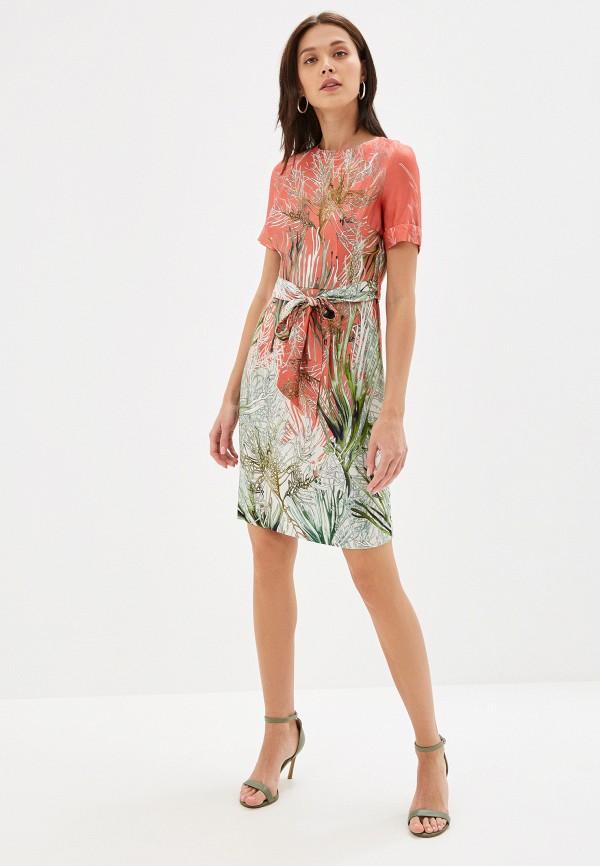 Фото 2 - женское платье Lusio кораллового цвета
