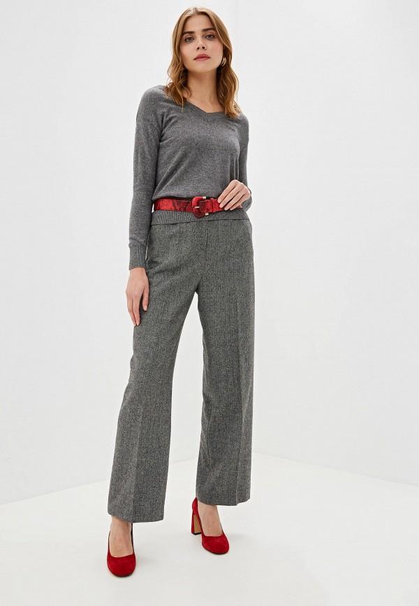 Фото 2 - женский пуловер Lusio серого цвета