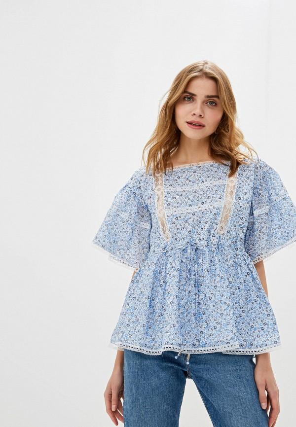женская блузка lusio, голубая