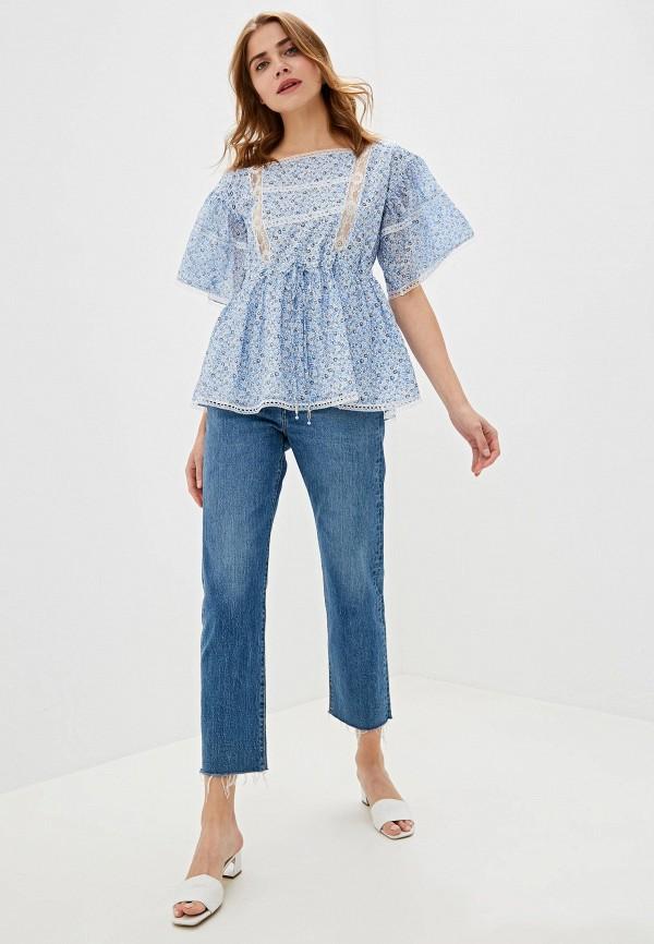 Фото 2 - женскую блузку Lusio голубого цвета