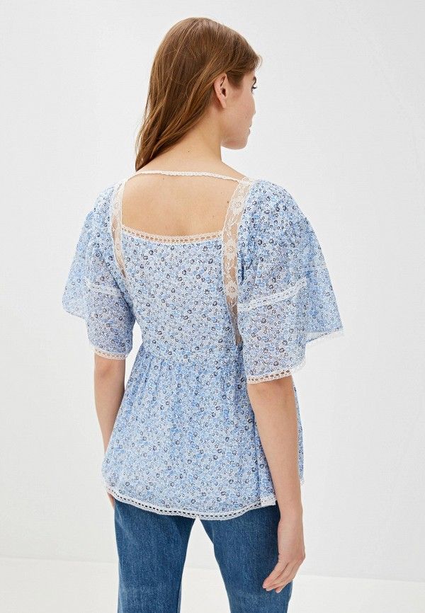 Фото 3 - женскую блузку Lusio голубого цвета