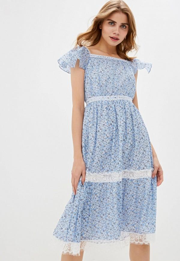 женское платье lusio, голубое