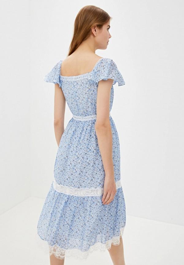 Фото 3 - женское платье Lusio голубого цвета