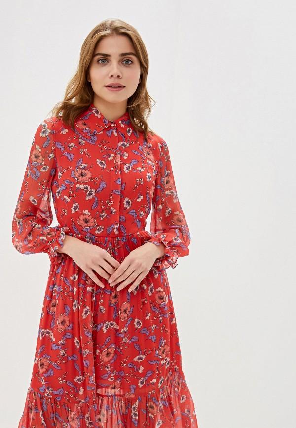 Фото 2 - женское платье Lusio красного цвета
