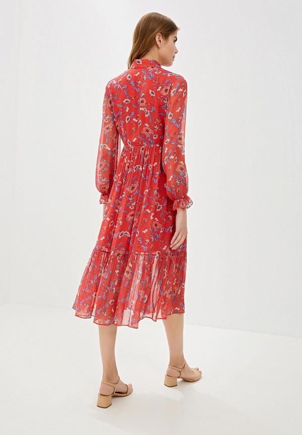 Фото 3 - женское платье Lusio красного цвета