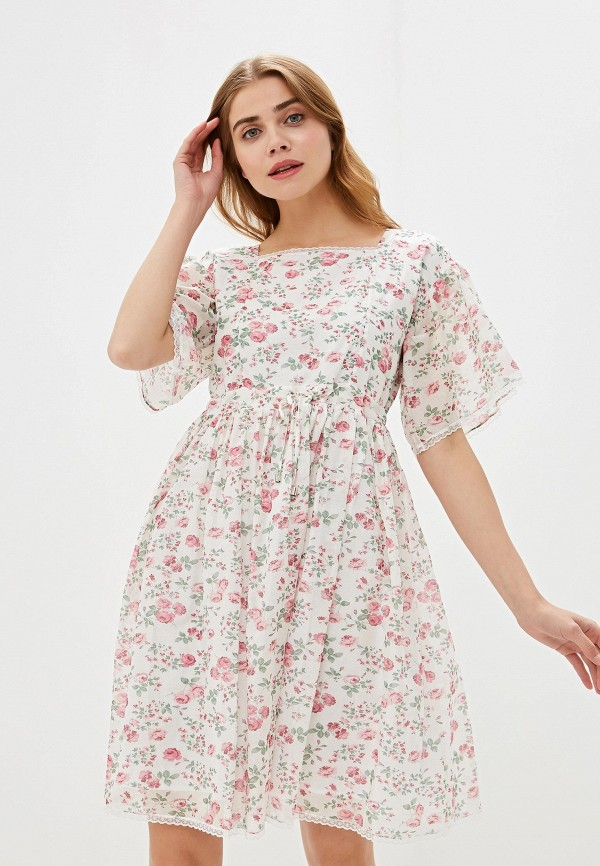 Фото - женское платье Lusio белого цвета