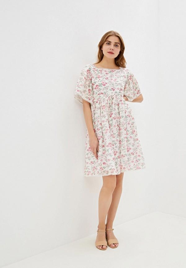 Фото 2 - женское платье Lusio белого цвета