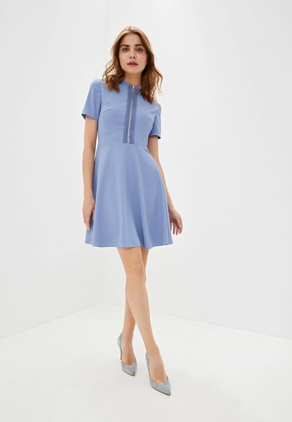 Фото 2 - женское платье Lusio голубого цвета