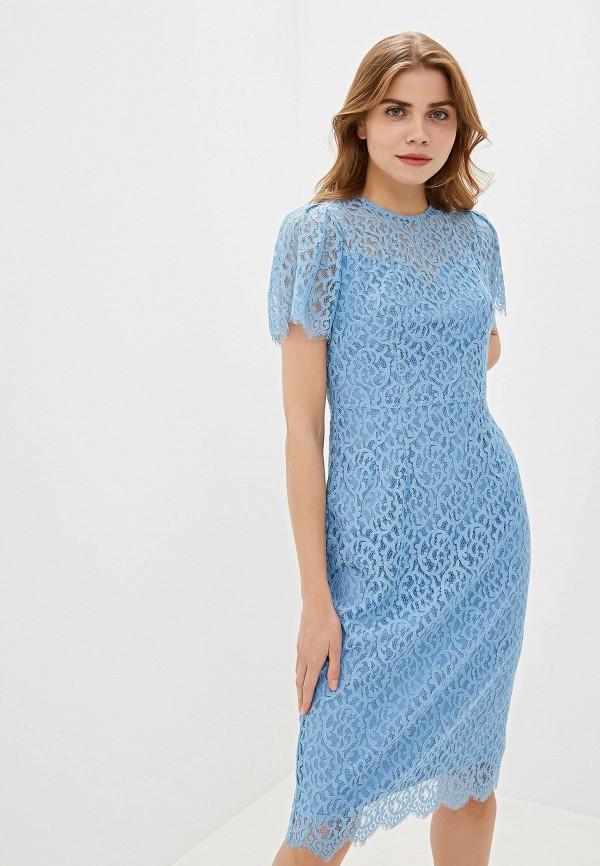 женское повседневные платье lusio, голубое