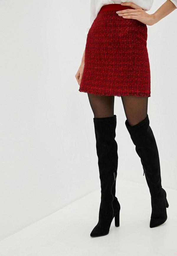 женская прямые юбка lusio, красная