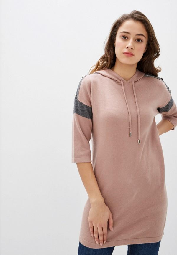 женская туника lusio, розовая