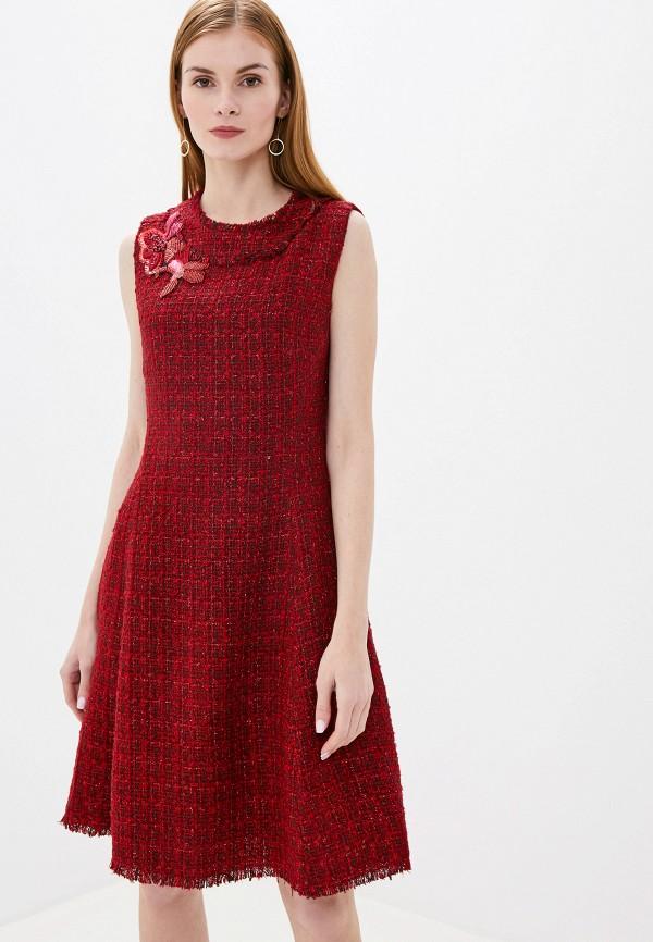 женское повседневные платье lusio, бордовое