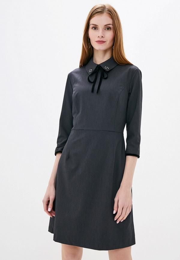 женское повседневные платье lusio, серое