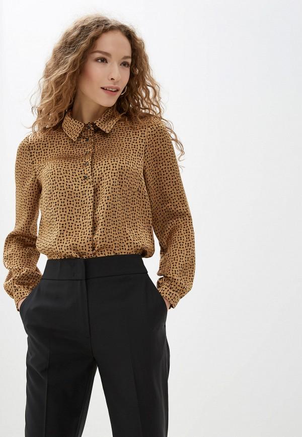 женская блузка lusio, коричневая