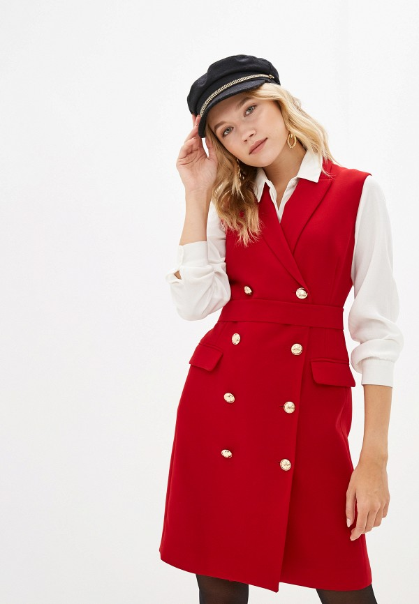 женское платье lusio, красное