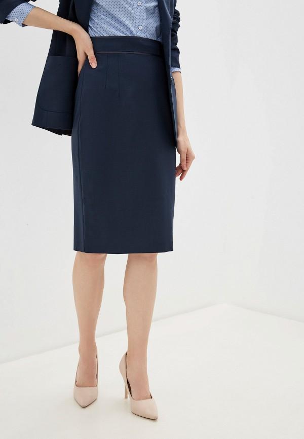 женская юбка миди lusio, синяя
