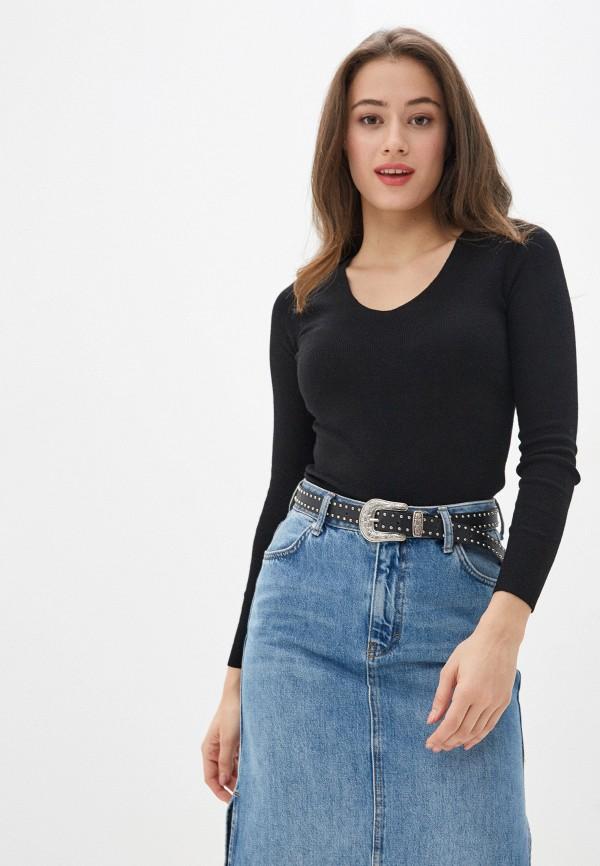 женский пуловер lusio, черный