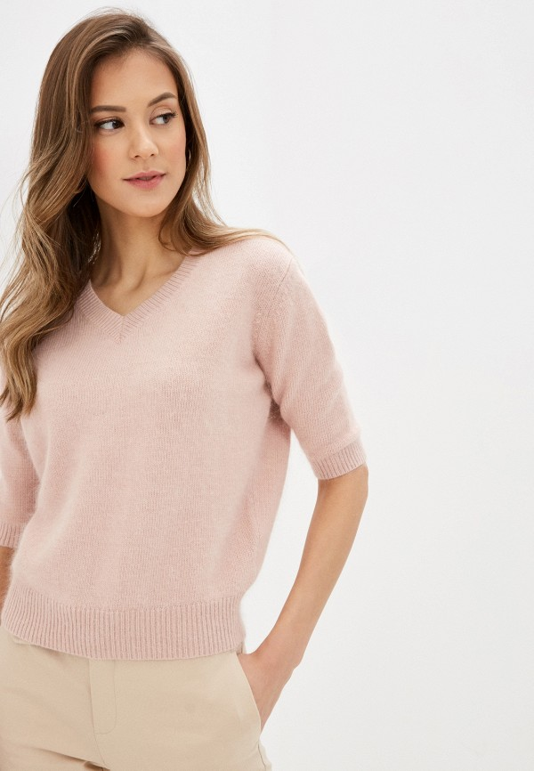женский пуловер lusio, розовый