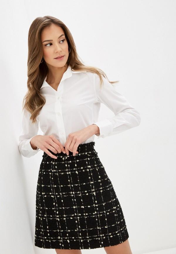 женская рубашка с длинным рукавом lusio, белая